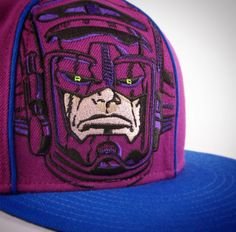Galactus one panel BIG FACE. don't think it ever came out :( had to redraw this guy from scratch to get the vectors embroidered on the cap.  #marvel #galactus #fantasticfour #59fifty #fitted #prototype #process #comicbooks #design #draw #drawing #capdesign #havefundesigning
