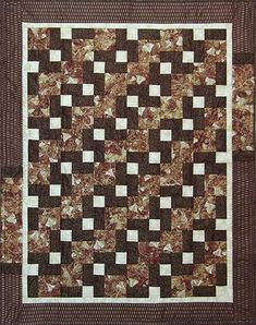 Designs to Share with You quilt pattern - Stepping Up - designed by Ursula Riegel  Especially Designed with the Beginner in Mind.  This true beginner quilt pattern is ideal for learning the making of a quilt in a class setting or on your own. Strip and chain piecing instructions are