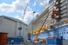 The Quantum of the Seas of Royal Caribbean International, at Papenburg warf (DE) Picture from Mer & Marine - by Vincent Groizeleau - 2014