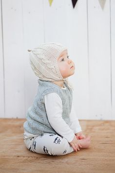 Grey Knitted Baby Vest /  Wool Baby vest / Girl / Boy by GeraBloga, €39.00