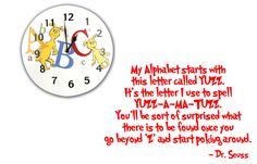 Dr Seuss Wall Decal Quote 'My Alphabet Starts With by InitialYou Dr Seuss Wall Decals, Nursery Decals, Dr Suess Quotes, Me Quotes, Dr Seuss Nursery, Classroom Quotes, Vinyl Wall Quotes, Letter V, Ted Talks