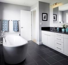dark gray bath floor - Google Search