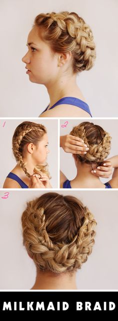 Milkmaid Braids For Short Or Fine Hair Milkmaid Braid Braid - Diy hairstyle knotted milkmaid braid