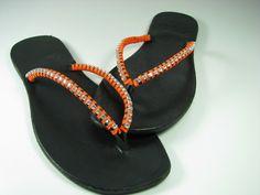 SALE ! Leather Flip Flops - Swarovski Flip Flop - Women Flip Flop - BOHO Flip Flops - Handmade Flip Flop - Greek Sandals - Flat Sandals