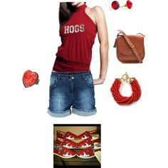 """Woo pig sooiee!!"" by summer-harlow on Polyvore"