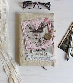 Diary 2018 | agenda 2018 | antique hemp | pink heart | roxy creations | cute journal diary | blank diary for her | unique gifts | 2018 daily journal | gifts for her | handmade gifts | a5 notebook size | daily planner 2018