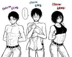 Levi, Eren is hilarious , Mikasa Attack On Titan Jean, Attack On Titan Fanart, Attack On Titan Funny, Attack On Titan Ships, Mikasa, Levi Squad, Eren Y Levi, Aot Memes, Rivamika