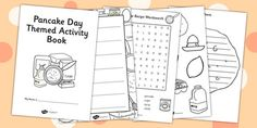 This handy book contains lots of lovely Pancake day themed activity / activities. Halloween Activities For Kids, Easter Activities, Creative Activities, Writing Activities, Teaching Resources, Teaching Ideas, Pancake Party, Pancake Day Crafts, Games