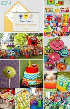Invitaciones infantiles, invitaciones para fiestas infantiles, cumpleanos infantil, cumpleanos de monstruos ideas para cumpleanos de ninos