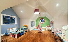 hanging chair, attic playroom