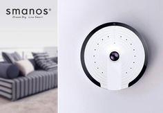 smanos UFO Panoramic WiFi HD Camera (Works with Amazon Alexa)