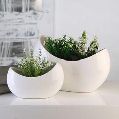 Váza MON, 30cm – bílá