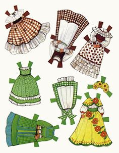The Gingham's - you can find more outfits here: inkspired musings: free Irish themed paper dolls