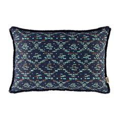 POM Amsterdam Cushion Woven Ikat Turquoise | Klevering