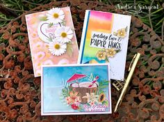 Banner Triple Stampin Up cards