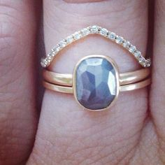 """Tendance Bagues 2017 / 2018 : Stone Fox Bride on Instagram: """"he proposed in telluride colorado on the spring equinox, in the snow walking home from the gondola.  i was a mess from skiing all day, in a…"""""""