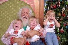 These kids, who somehow managed to make Santa unhappy too: | 22 Kids Who Are Totally Over Taking Their Photo With Santa
