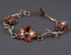 Cherry Blossom Branch Bracelet  Metalsmithing MADE TO by HapaGirls, $60.00