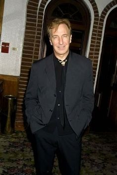 """Alan Rickman, 2002 Opening Night of """"Private Lives"""""""