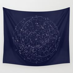 Constellation+Map+Indigo+Wall+Tapestry+by+Merlin+-+$39.00