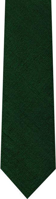 Forest Green Thai Rough Silk Tie #12