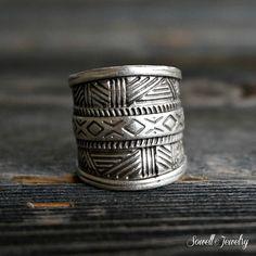 Jaida Silver Tribal Ring