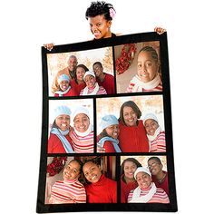 "60"" x 80"" Collage Fleece Photo Blanket Can totally see this working for visual modeling!!!"