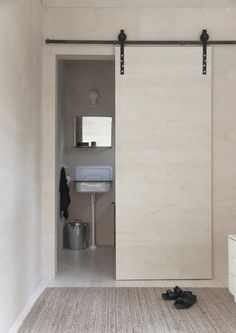 Sliding Bathroom Doors Interior space saving door for the bathroom. need to think of pros anc cons