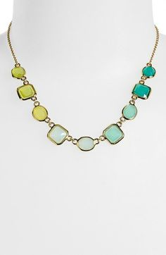 ombre necklace - kate spade new york 'coated confetti' frontal necklace available at #Nordstrom