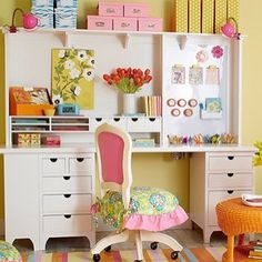 pretty craft room