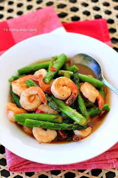 To Food with Love: Asparagus and Prawn Stir-fry @To Food with Love