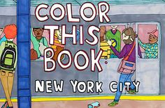 Color This Book: New York City | 35 Livros de Colorir para Todas as Idades