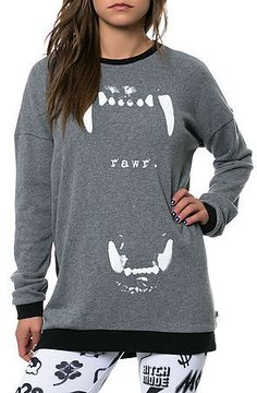 The Morning Bell Crewneck Sweatshirt in Heather Gunmetal by Vans