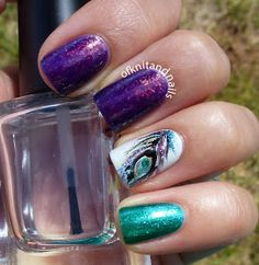 Tales of Knit and Nails: Feeling Peacock-y