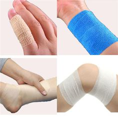 Non-woven Adhesive Elastic Supporting Medical Finger Arm Bandage Tapes at Banggood