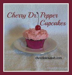 Cherry Dr. Pepper Cupcakes  http://chocolatesistah.com/2013/01/cherry-dr-pepper-cupcakes.html