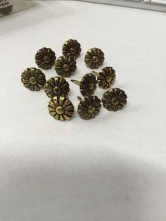 Antique Flower Upholstery Nail Heads by RoomKandi on Etsy