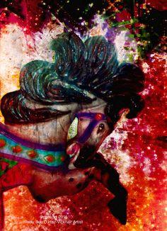 Pink Carousel Horse  ©psovart 2015 Patty Sue O'Hair-Vicknair Artist