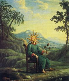 The alchemist who has achieved illumination.   From Andrea de Pascalis,  Alchemy: The Golden Art. The Secrets of the Oldest Enigma    From Andrea de Pascalis,  Alchemy: The Golden Art. The Secrets of the Oldest Enigma