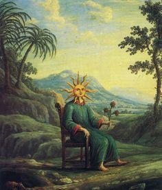 The alchemist who has achieved illumination.  From Andrea de Pascalis, Alchemy: The Golden Art.