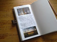 Midori Travelers Notebook. journal entry.
