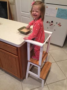 Maddie loves to help in the kitchen. Washing her hands, washing dishes, stirring things, watching things, eating things. I was getting in a ...