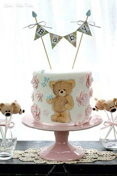 Teddy hand-painted Cake