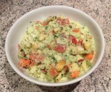 Rezept Tutti-Frutti-Weißkohl Salat mit Knoblauch-Kräuter-Sauce von Rosenkind01 - Rezept der Kategorie Vorspeisen/Salate