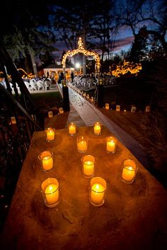 A candle lit wedding ceremony