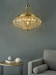 Grey on grey with a dash of glitz 😍 Chandelier from @dar_lighting