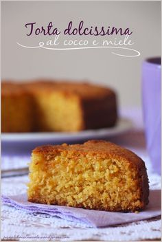 Torta al cocco e miele senza zucchero - Cocnut and Honey Cake (sugar free)