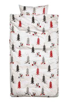 Taie d'oreiller: Taie d'oreiller en fil de coton fin avec motif de Noël imprimé. Fil 30. Densité 57 fils/cm².