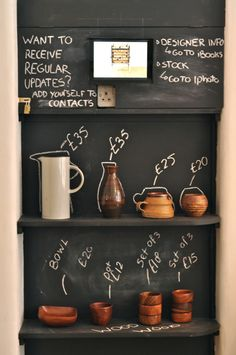 Design Store(y): Førest London. Blackboard paint can go a long way in innovative design.