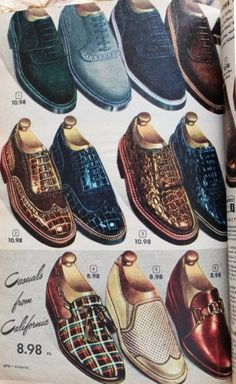 Mens s vintage shoes 1950